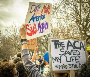 Demonstrators rally in Support of the Affordable Care Act, at The White House, Washington, DC (flickr-Ted Eytan)
