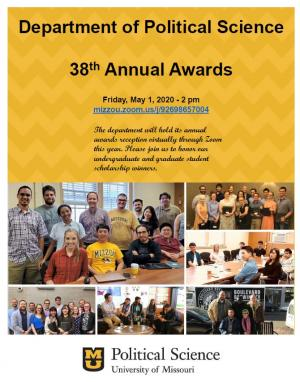 Department of Political Science 38th Annual Awards invite